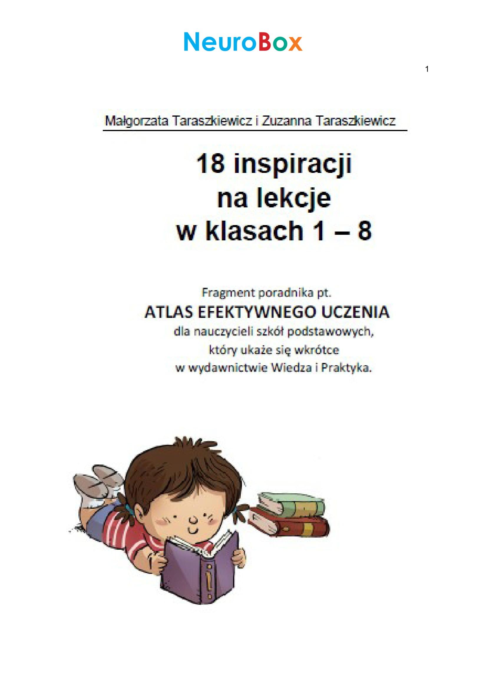 18 inspiracji dla nauczycieli szkół podstawowych